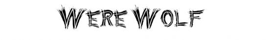 Were Wolf Font