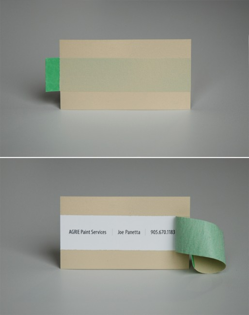 Agrie Paint Services Business card