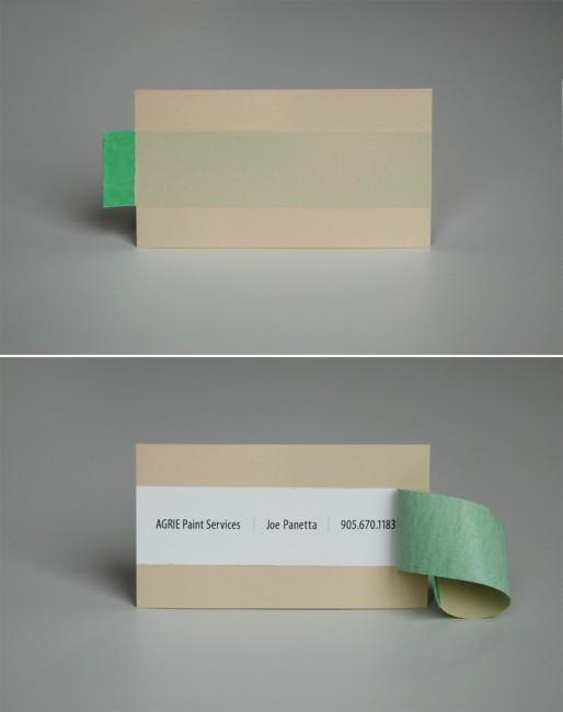 Agrie Paint Services Business card