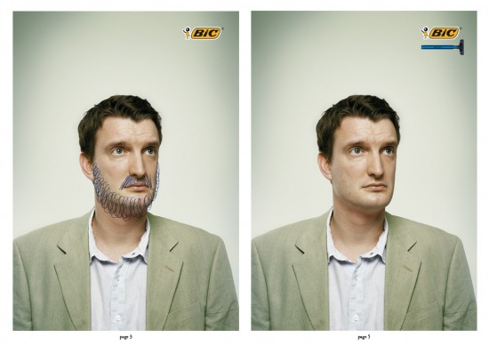 BIC Shave 550x389 52 Advertisements Who Got Awarded For Their Creativity