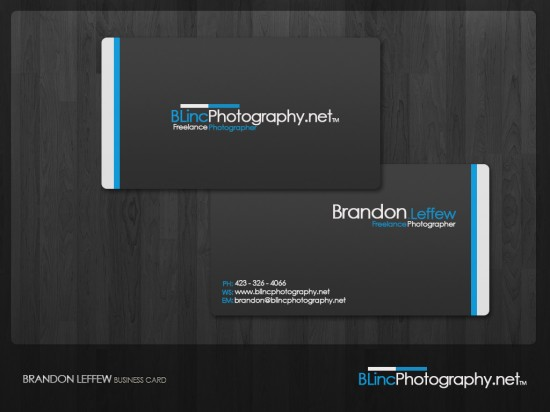 BLincPhotography Business Card by BLPhotography 550x412 21 Black Business cards Design