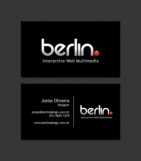 Berlin  Business Card by JosiasOliveira 550x626 21 Black Business cards Design