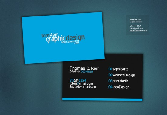 Business Card by IkeGFX 550x378 21 Black Business cards Design