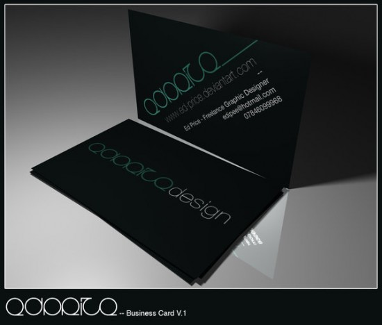 Business Card by edward price 550x468 21 Black Business cards Design