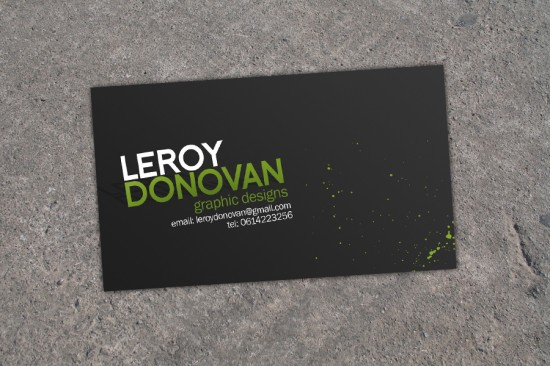 Business Card by leroydonovan 550x366 21 Black Business cards Design