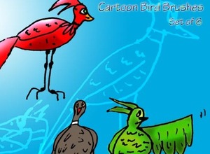 Cartoon Bird Image 20 Beautiful Photoshop Brushes That Will Make Your Work In Photoshop Easier