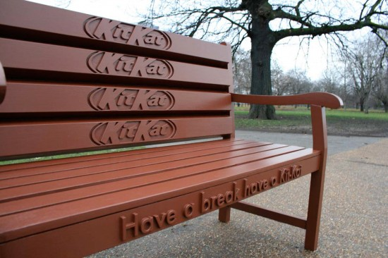 Kit Kat Bench 550x366 52 Advertisements Who Got Awarded For Their Creativity