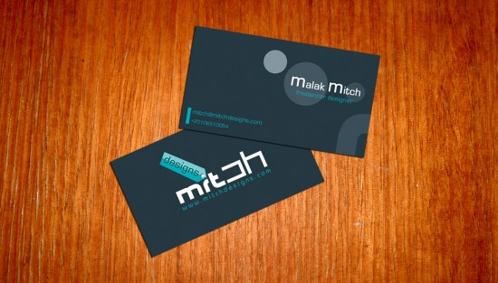 MY new Business Card by mitch2004 550x313 21 Black Business cards Design