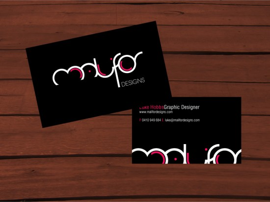 Malifor Designs business card by malifor  550x412 21 Black Business cards Design
