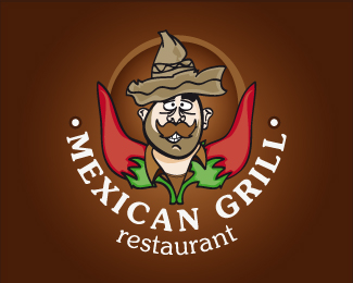 Mexican Grill Restaurant 42 Awesomely Created Logo Characters
