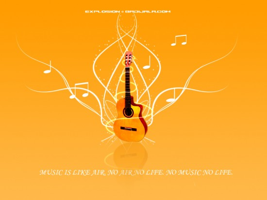 Music Wallpaper by doneandonov 550x412 23 Brilliantly Designed Music Wallpapers That Will Make Your Desktop Singing