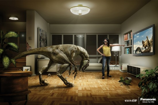 Panasonic 3D TV Dino 550x366 52 Advertisements Who Got Awarded For Their Creativity