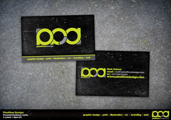 Pixelflow Design business card by crezo 550x388 21 Black Business cards Design