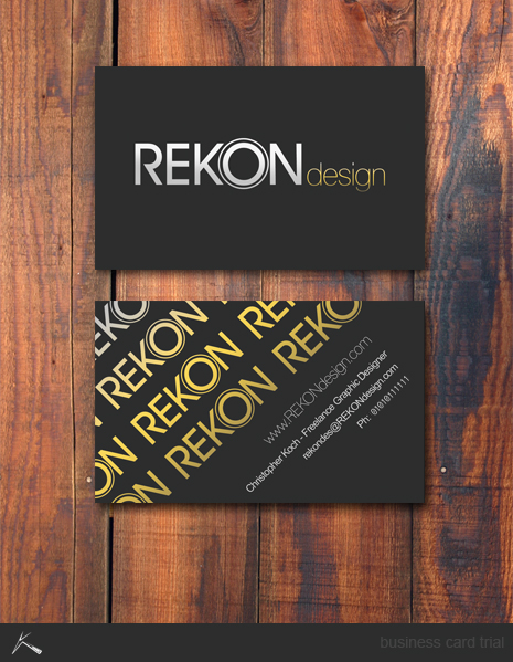 REKON business card by kocho 21 Black Business cards Design
