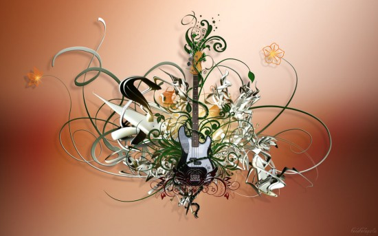 Swirls of Music   by cocacolagirlie 550x343 23 Brilliantly Designed Music Wallpapers That Will Make Your Desktop Singing