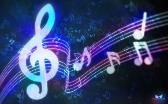 The Light of Music by TWe4k 550x343 23 Brilliantly Designed Music Wallpapers That Will Make Your Desktop Singing