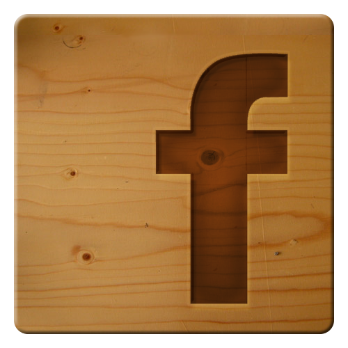 facebook social icon wood 27 Simplest, Easiest Logos Which Big Internet Companies Use
