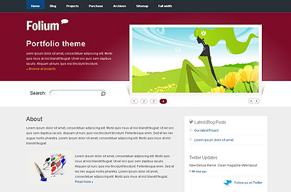 folium small 31 Premium Wordpress Themes