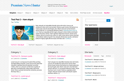 news hunter small 31 Premium Wordpress Themes