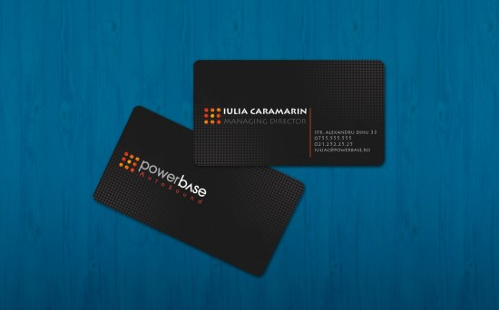 powerbase business card by iTudor 550x342 21 Black Business cards Design
