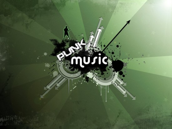 punk music by m0rgh 550x412 23 Brilliantly Designed Music Wallpapers That Will Make Your Desktop Singing