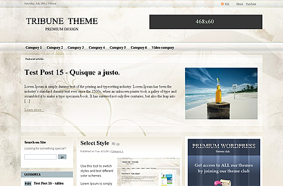 tribune small 31 Premium Wordpress Themes