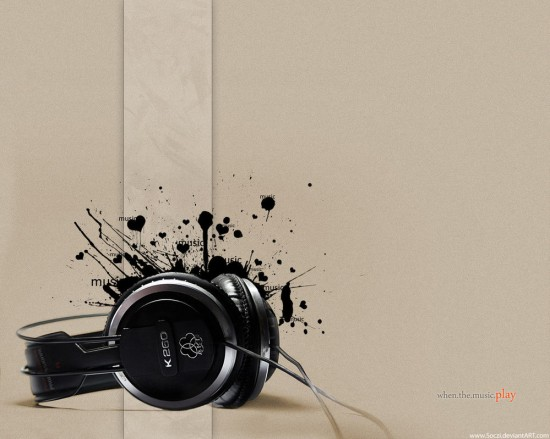 when the music play  wallpaper by Soczi 550x439 23 Brilliantly Designed Music Wallpapers That Will Make Your Desktop Singing
