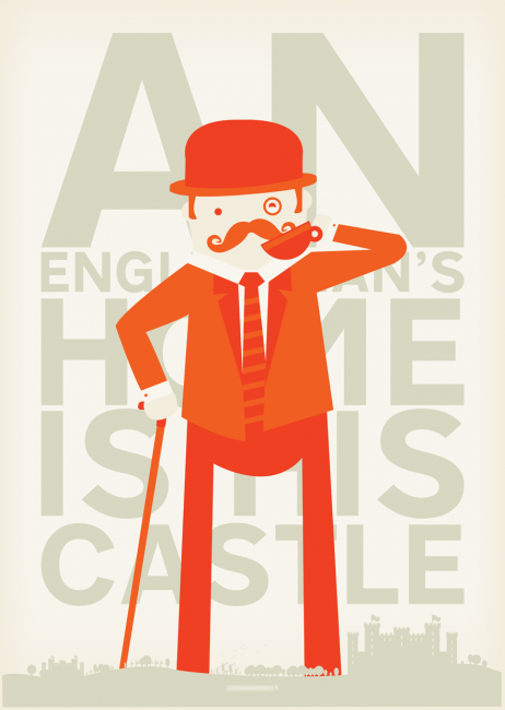 AnEnglishmansHome2 462x650 29 Fresh And Creative Poster Designs