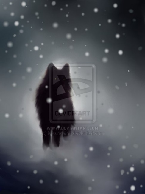 Black Wolf by isisandwolf 487x650 42 Well Painted Wolfs