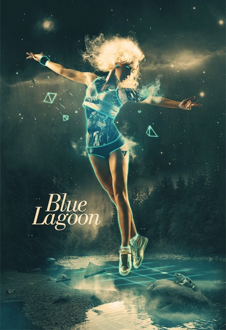Blue Lagoon 445x650 29 Fresh And Creative Poster Designs