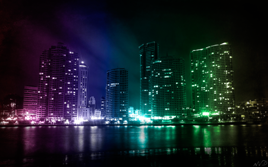 City Lights by mental3pal 550x343 Modern Photography: City Lights