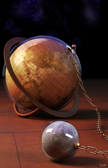 Globe by Lesak 418x650 26 Inspiring Digital Globes