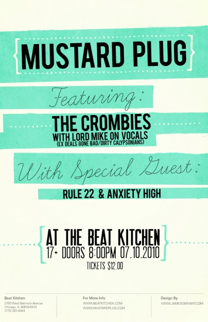 MUSTARD PLUG CONCERT POSTER 420x650 29 Fresh And Creative Poster Designs