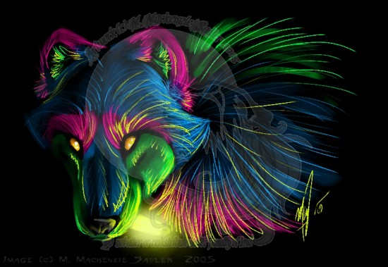 Rave Wolf by vampiremackenzie 550x379 42 Well Painted Wolfs