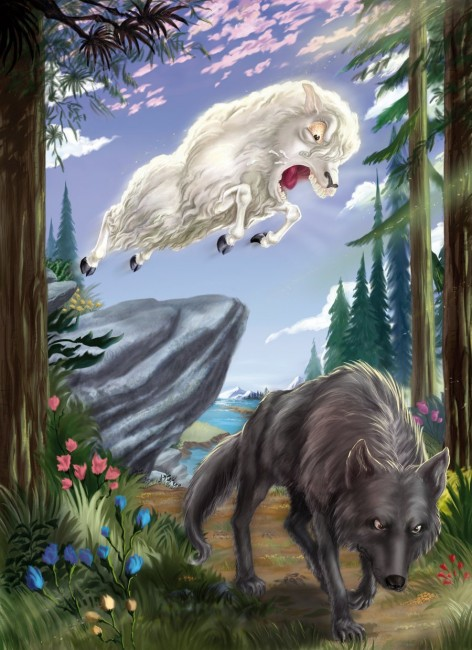 Sheep and Wolf by art2work 472x650 42 Well Painted Wolfs