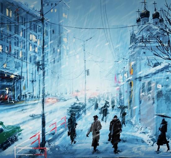 Speedpaint__Moscow_Winter_by_Prasa