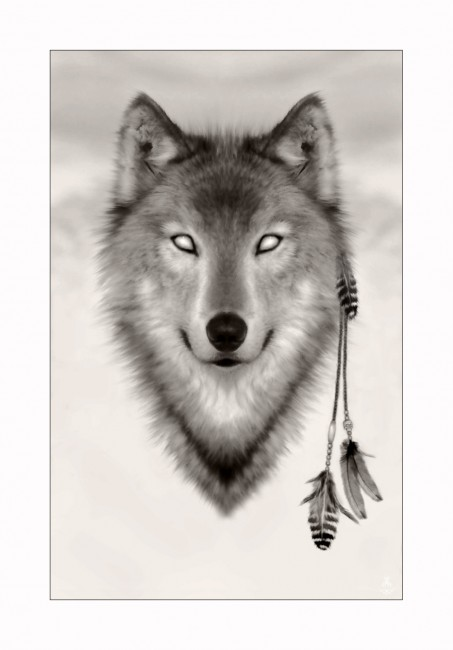 Spirit Wolf by miskis 453x650 42 Well Painted Wolfs