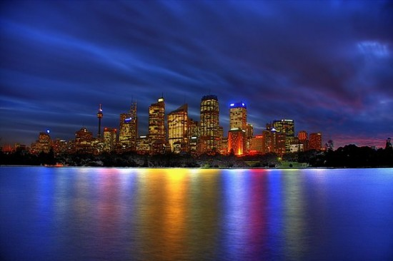 Sydney city lights and colours by Kounelli1 550x366 Modern Photography: City Lights