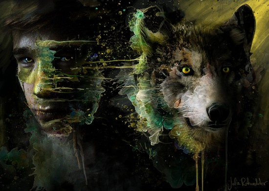 Wolf Inside by MoOnshine90 550x390 42 Well Painted Wolfs
