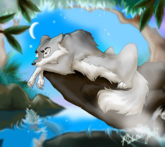 Wolf by Celebi Yoshi 550x488 42 Well Painted Wolfs