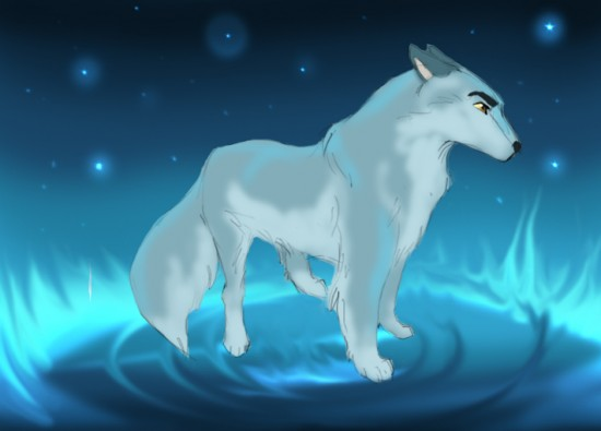 wolf    by dyb 550x395 42 Well Painted Wolfs