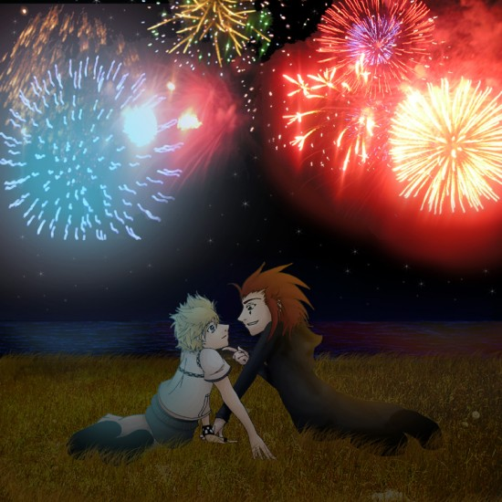 AkuRoku  Fireworks by Blue Dragon22 550x550 46 Inspirational Fireworks That Are Done In Photoshop
