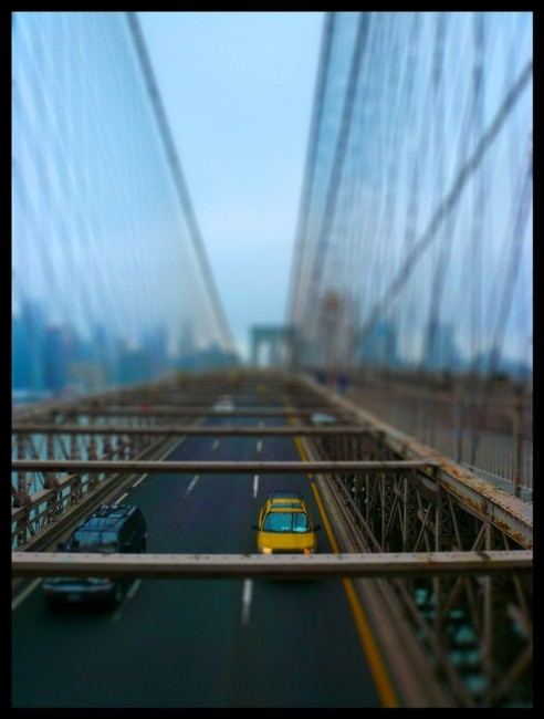 Brooklyn Bridge Tilt Shifted 492x650 47 Examples Of Tilt   Shift Photography