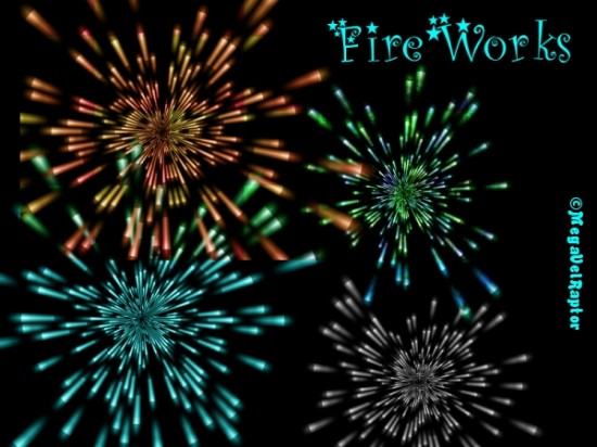 FireWorks by MegaVelRaptor 550x412 46 Inspirational Fireworks That Are Done In Photoshop