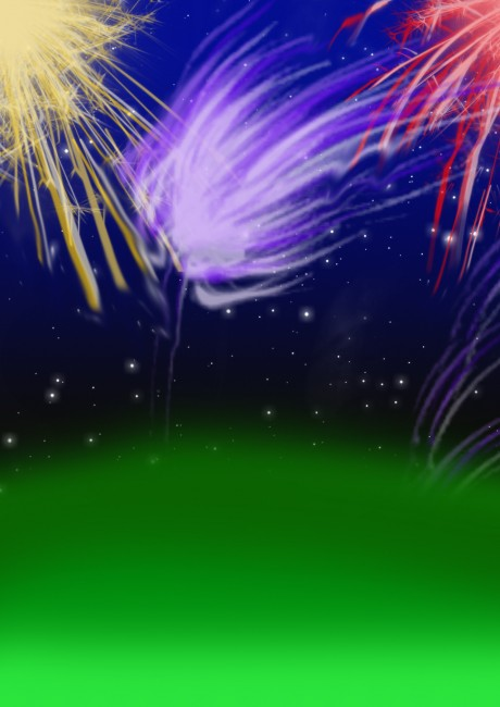 Fireworks Background by YuniNaoki 460x650 46 Inspirational Fireworks That Are Done In Photoshop