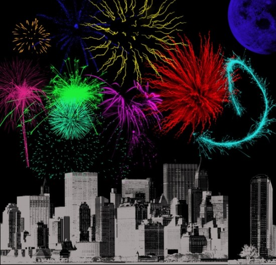 Fireworks by Arrtos 550x528 46 Inspirational Fireworks That Are Done In Photoshop