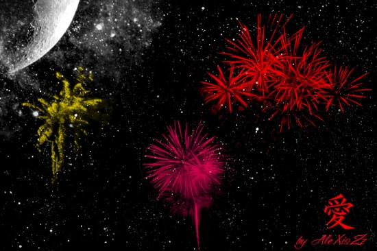 Fireworks by Sufletzel Emo 550x366 46 Inspirational Fireworks That Are Done In Photoshop