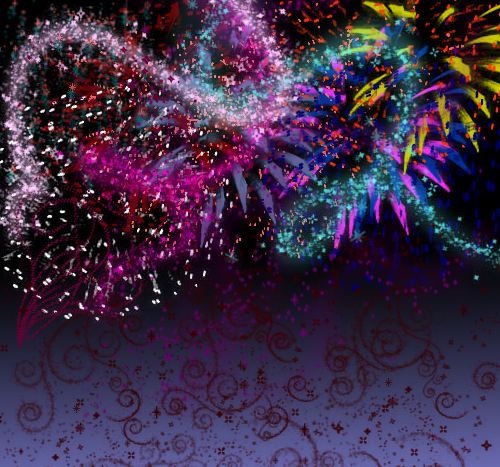 Fireworks by freakalchmist 46 Inspirational Fireworks That Are Done In Photoshop