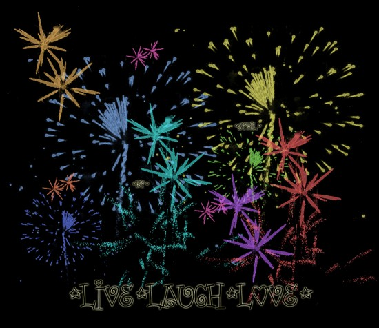 Fireworks by sybsta 550x475 46 Inspirational Fireworks That Are Done In Photoshop