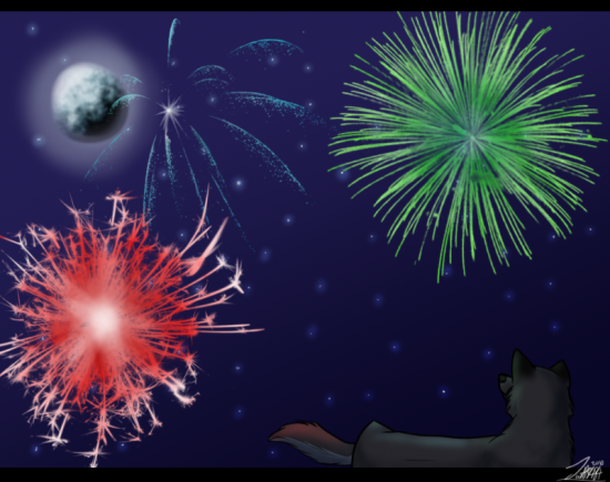 Fireworks by twolf8484 550x435 46 Inspirational Fireworks That Are Done In Photoshop